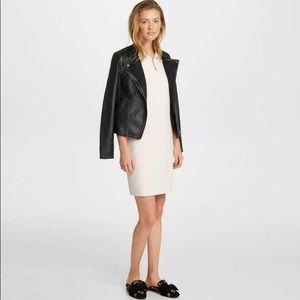 Karl Lagerfeld Paris Faux Leather Moto Jacket M